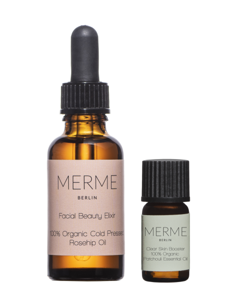 MERME Facial Beauty Elixir Rosehip Oil + Clear Booster kit