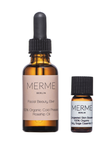 MERME Facial Beauty Elixir Rosehip Oil + Congested Booster kit